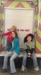 My three beautiful kids. We went on a field trip to the fire station on Jacob's birthday, and I managed to get them all to stay slightly still for one picture!